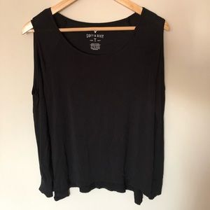 American Eagle Outfitters Tops - American Eagle Soft & Sexy Cold Shoulder Top